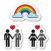 Clipart of Gay rights retro flag k10307365 - Search Clip Art ...