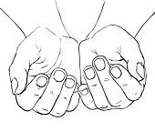 Cupped female hands God Open Hands Clipart
