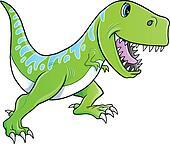 Clip Art T Rex Clip Art clipart of cute green dinosaur t rex vector k8529441 search clip tyrannosaurus vector
