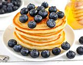 Stock Photo of Pancakes with blueberries k10259962 ...