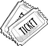 Coupon ticket clipart
