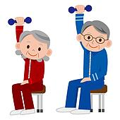 Clipart of Group of older mature people liftin k10725111 ...