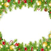 Clip Art of Christmas Garland Set k8006219 - Search Clipart ...