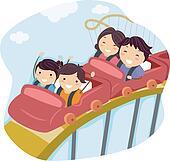 Roller coaster Clip Art Illustrations. 137 roller coaster ...