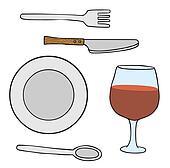 Dishwares  Table Etiquette Clip Art