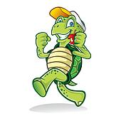 Clipart of Running Turtle k11297594 - Search Clip Art ...