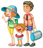 Clip Art of Family standing on beach u22135022 - Search ...