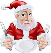 Clipart of Santa Cooking Christmas Food k16971943 - Search Clip ...