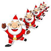 Stock Illustration of Santa Drinking Beer k4873258 - Search EPS ...