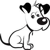 Clipart Hund Schwarz Weiß