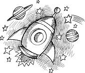 astronomy clip art black and white - photo #39
