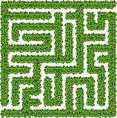 Clip Art of Bushes maze k12485596 - Search Clipart ...