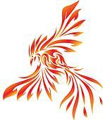 Clip Art Phoenix Clipart drawings of phoenix bird tattoo k8995714 search clip art phoenix