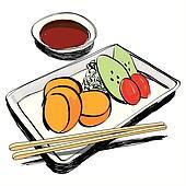 clip art of japanese cuisine - food sketch hand drawn k12657658