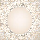 Clipart of lace background and pearl necklace k13916702 ...