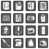 Opvaskemaskine illustrationer og clipart
