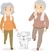 Clip Art of Senior Citizens Stickman k12749808 - Search Clipart ...