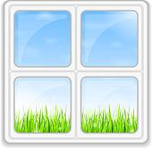 Fenster schließen clipart  Clipart - grünes gras, blau, himmel k12838142 - Suche Clip Art ...