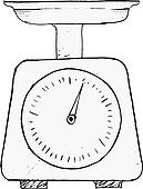 Clipart of domestic weigh-scales k9520363 - Search Clip Art ...
