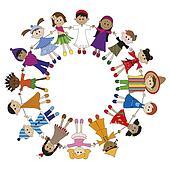 Kinderkreis clipart  Zeichnungen - global, kindern k3194164 - Suche Clip Art ...