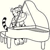 Clipart - karikatur, musik, tier, symbol k5954885 - Suche ...