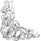 eine prostituierte orchidee zeichnung schwarz weiß