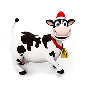 Clipart of Funny cow carry wooden milk pail k7048431 - Search Clip ...