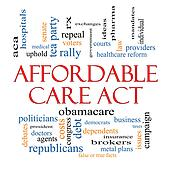 Stock Photography of Affordable Care Act Word Cloud ...