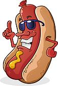 Clipart of Outlined Grilled Sausage k12669190 - Search ...