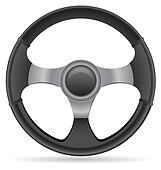Clip Art of Steering wheel black k10504238 - Search ...