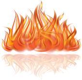 clip art flamme feuer von lagerfeuer mit feuerholz k18424518 suche clipart poster. Black Bedroom Furniture Sets. Home Design Ideas