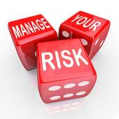 Manage Your Risk Words Dice Operational Risk Clipart