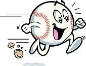 Clipart of Softball Running softball001 - Search Clip Art ...