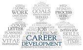 Karriere, udvikling, ind, glose, etiketten, sky
