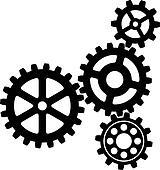 Gears Clipart Vector Graphics. 17,975 gears EPS clip art ...  Black