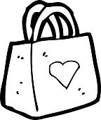 Gift bag illustrations and clipart
