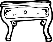 clipart dessin anim table basse k14851298 recherchez. Black Bedroom Furniture Sets. Home Design Ideas