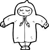Clipart retro dessin anim personne porter manteau - Dessin de manteau ...