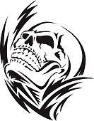 Clip art of human skeleton vintage nineteenth c k6588646 search