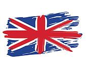 Clip Art of Painted British Flag k16006066 - Search ...