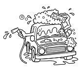 Clipart lavage voiture dessin anim vecteur k16871866 recherchez des cliparts des - Coloriage car wash ...