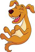 laughing dog clip art - photo #2