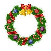 clipart weihnachten tannenzweig kranz rahmen k8795613. Black Bedroom Furniture Sets. Home Design Ideas