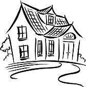 Haus clipart schwarz weiß  Clip Art - türkei, schwarz weiß szo0472 - Suche Clipart, Poster ...