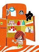 Réfrigérateur illustrations et cliparts