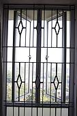Window grill design as openness ; Calcutta now Kolkata ; West Bengal ...