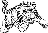 Clipart of Tiger Cub u18738430 - Search Clip Art, Illustration ...