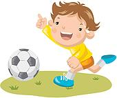 Clip Art of kid, leisure activity, exercise, physical ...