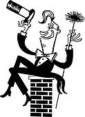 Clipart Of A Dog Chimney Sweep 803015 Search Clip Art