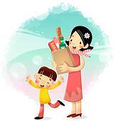 Mothers jour cliparts et illustrations